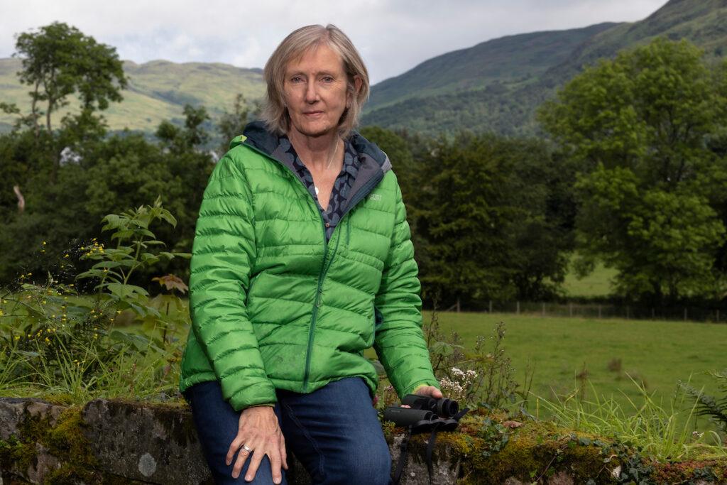 Karen Lloyd, author and environmentalist. 20 Jul 2020. Taynuilt, Scotland. Copyright photo by Tina Norris. © Tina Norris Photography 2020. Contact Tina on 07775 593 830 www.tinanorris.co.uk.